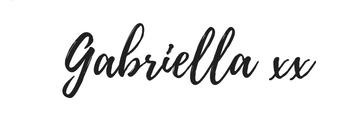 Gab With Me blog Gabriella signature image