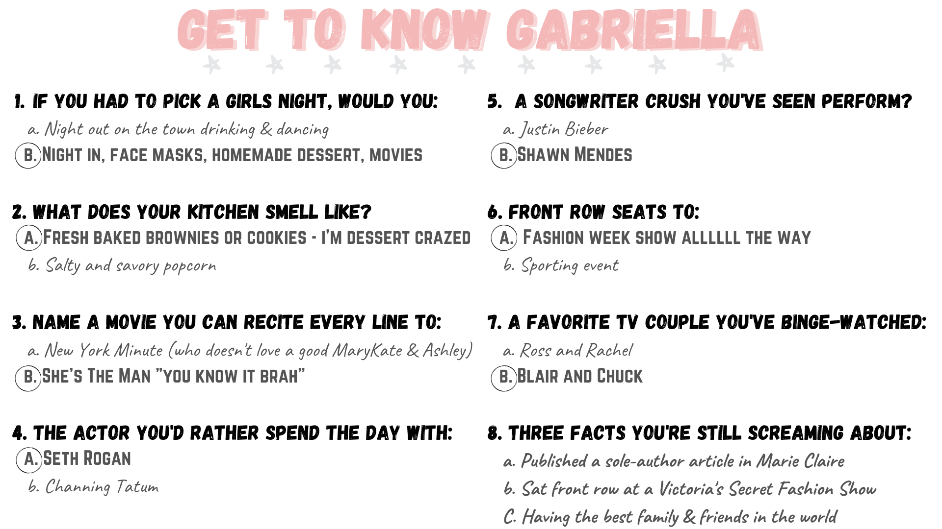 Gab With Me Get to Know Gabriella Image
