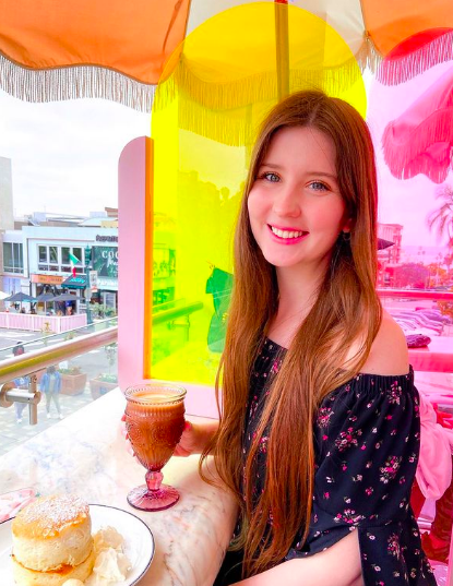 Gab With Me - Best Trendy Brunch Spots in San Diego - Morning Glory SD Restaurant, colorful umbrellas, coffee, soufflé pancakes